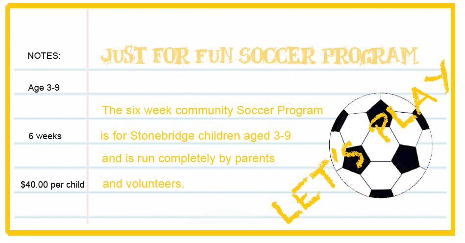 Stonebridge 'Just for Fun' Soccer Program