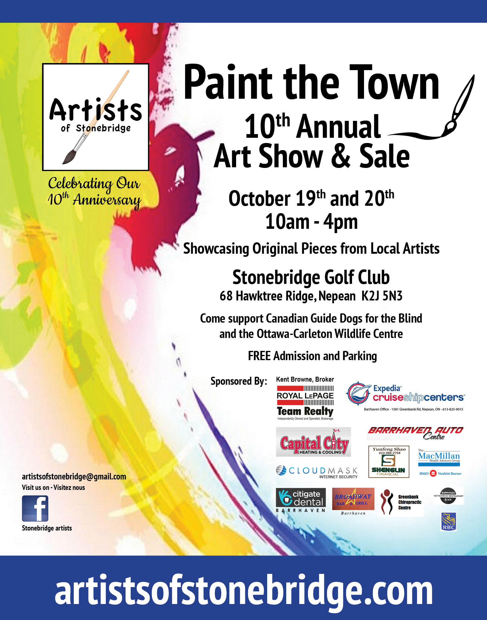 "Artists of Stonebridge ""Paint the Town"" 10th Annual Art Show and Sale"